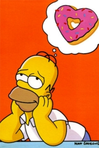 My donut connoisseur cartoon counterpart