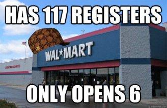 Walmart Lines too long